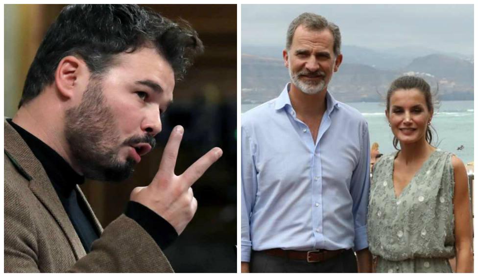 El siniestro mensaje de Rufián a los Reyes por su visita a Cataluña
