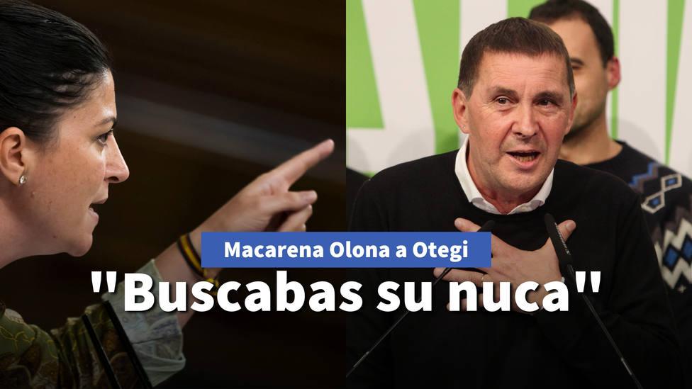 Macarena Olona desmonta el último ataque de Otegi a la Guardia Civil: Antes buscabas su nuca