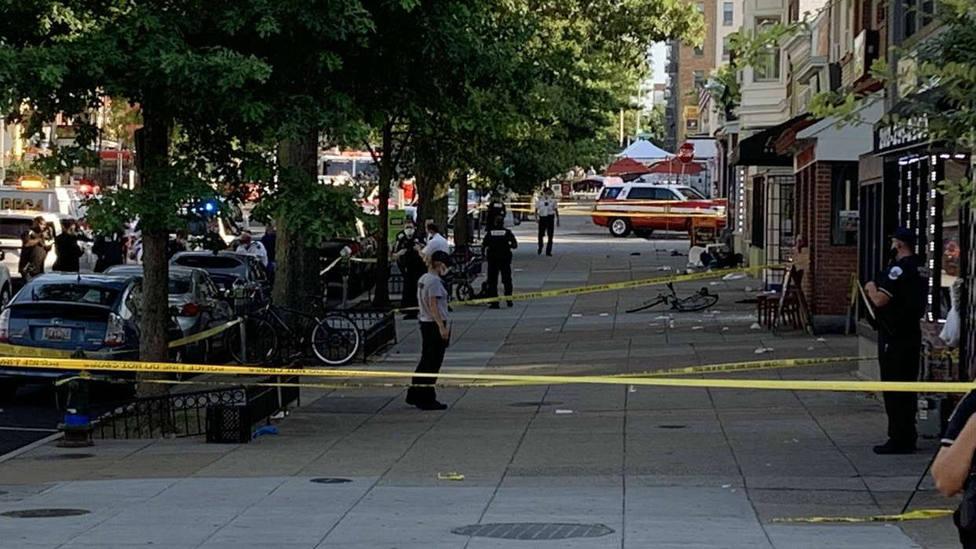 Tiroteo en Washington que se ha saldado con 1 muerto y 8 heridos, dos de ellos muy graves