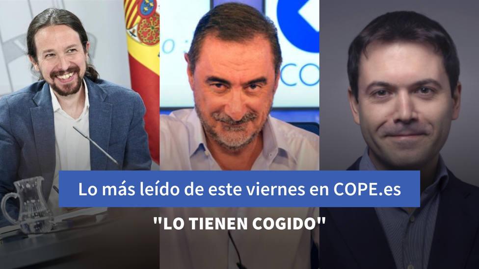 El chantaje independentista a Sánchez que ha revelado Herrera, entre lo más leído de este viernes