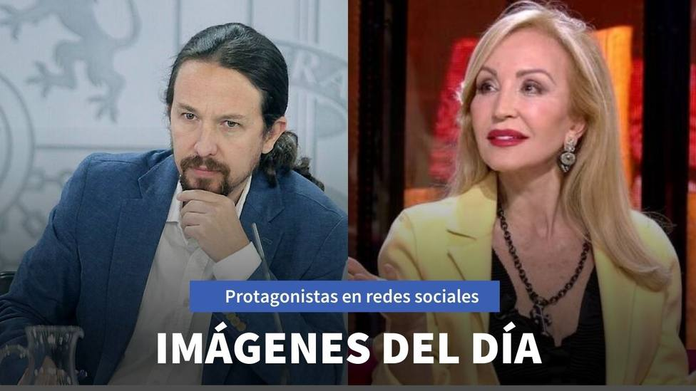 Imágenes del día: el nuevo look de Pablo Iglesias y la mascarilla de Carmen Lomana que genera tendencia