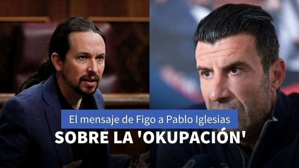 Pablo Iglesias y Luis Figo