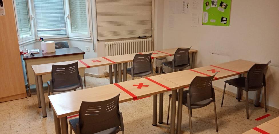 Las instalaciones de la Escuela de Música, organizadas para respetar la distanca social
