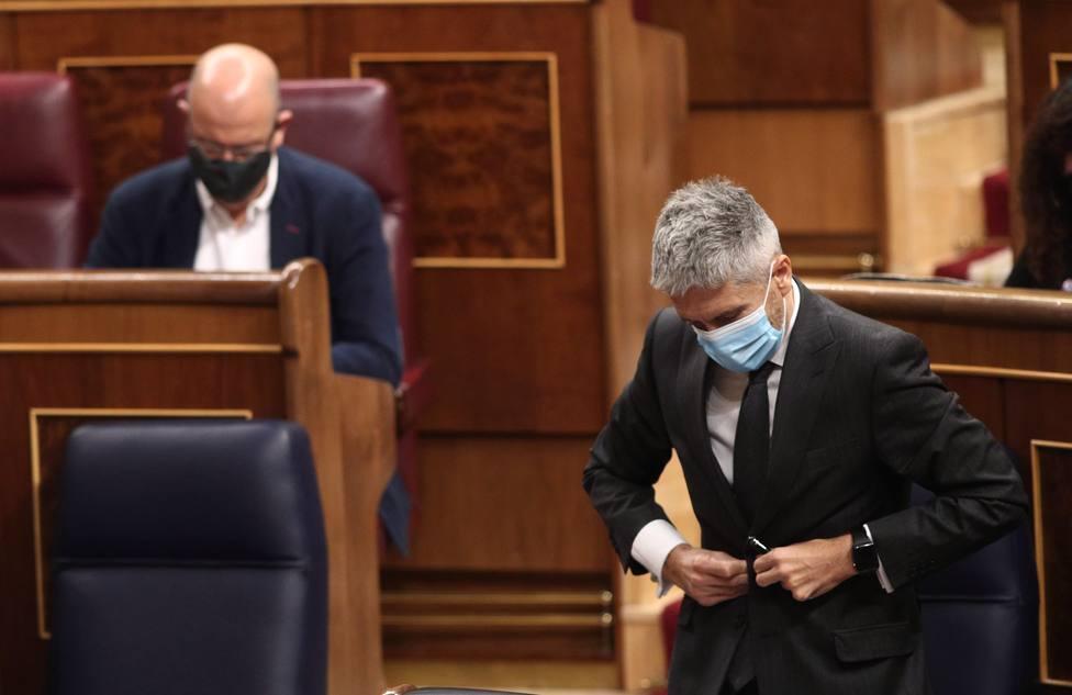 El Congreso ha rechazado por segunda vez la reprobación de Marlaska por los ceses de la Guardia Civil