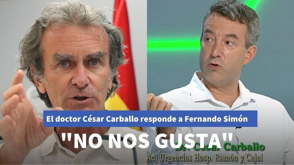 El doctor César Carballo responde a Fernando Simón y explica los motivos de la mala situación en Madrid