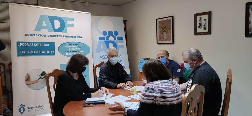 Reunión de la junta directiva de la Asociación de Diabéticos de Ferrolterra