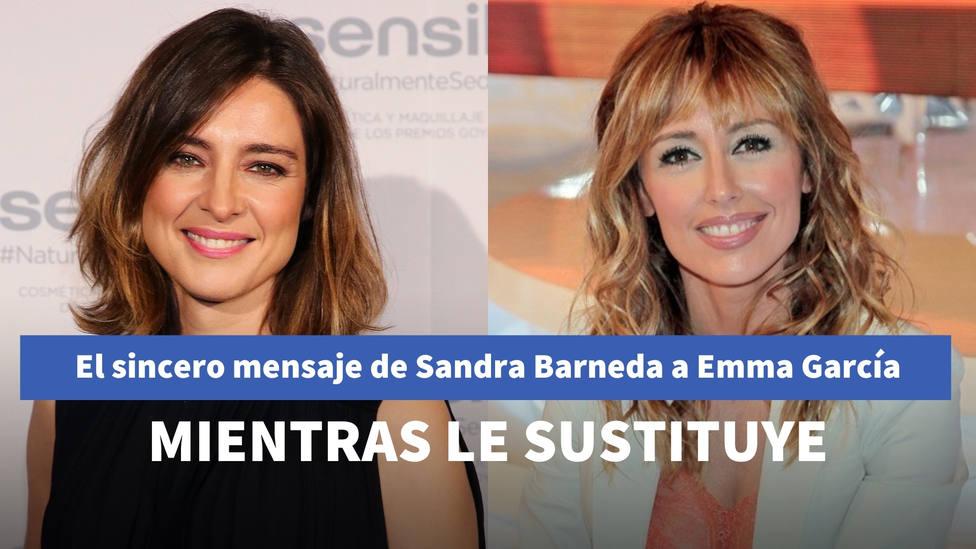 El sincero mensaje de Sandra Barneda a Emma García mientras le sustituye en Viva la vida