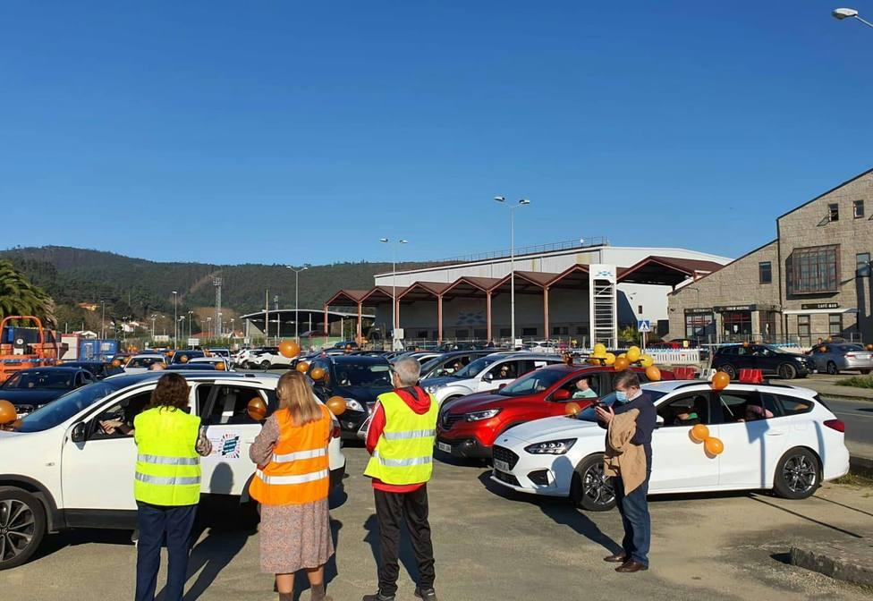Los vehículos salieron de la Fería de Muestras - FOTO: Fanpaferrolterra Concepción Arenal