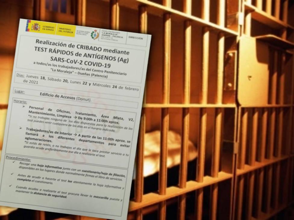 La Junta entrega test de antígenos para un cribado masivo en la cárcel de Dueñas