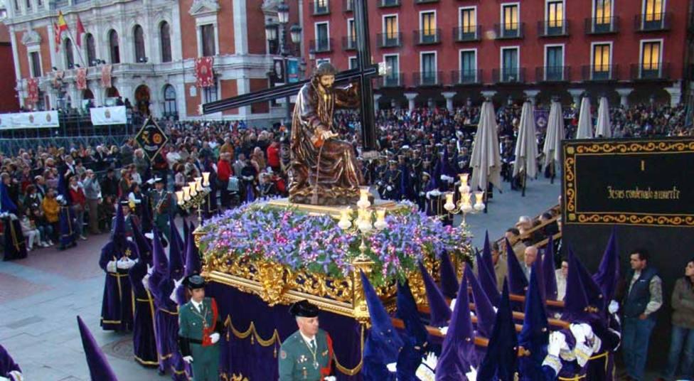 Imagen de archivo del Vía Crucis Procesional de la Cofradía de Jesús Nazareno de Valladolid