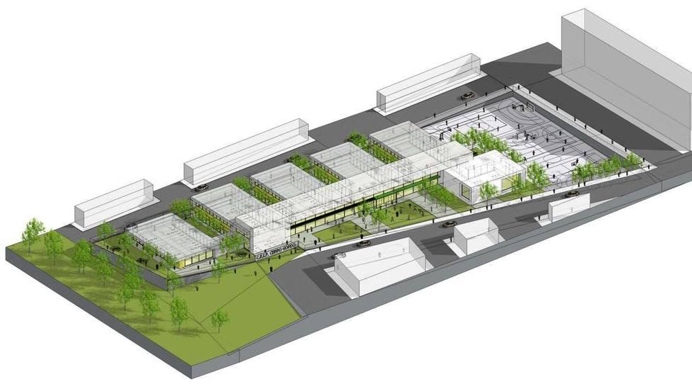 Proyecto del nuevo colegio de la barriada de Cerro Gordo (Badajoz). Foto: Juntaex