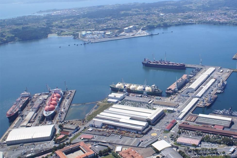 Vista aérea de Navantia Ferrol - FOTO: Europa Press