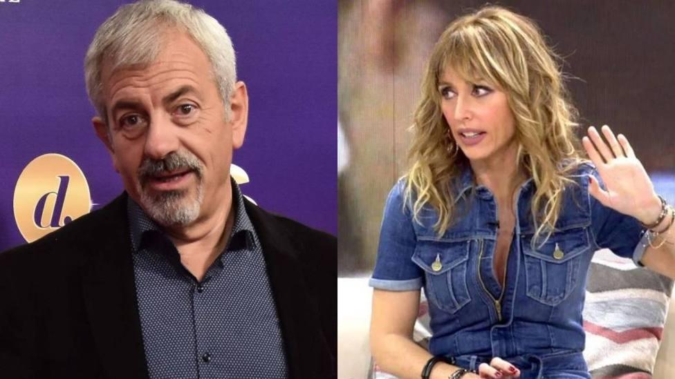 Carlos Sobera para los pies a Emma García por su actitud en pleno directo: Estás muy subidita