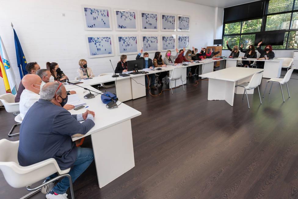 Momento de la votación a favor de las cuentas por parte del gobierno - FOTO: César Galdo