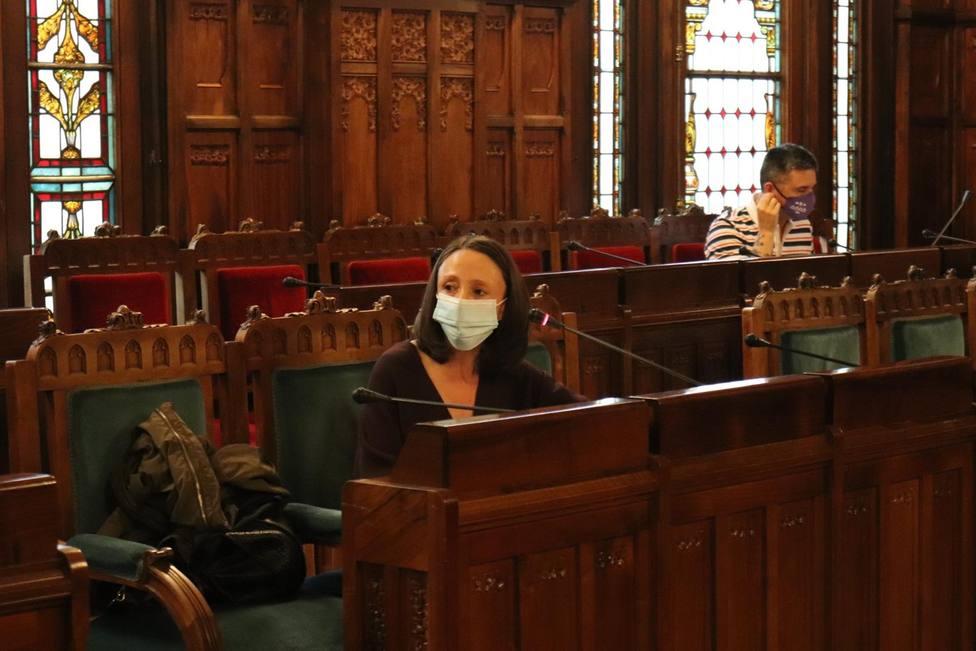 Melania Álvarez durante su intervención en la Junta General del Principado