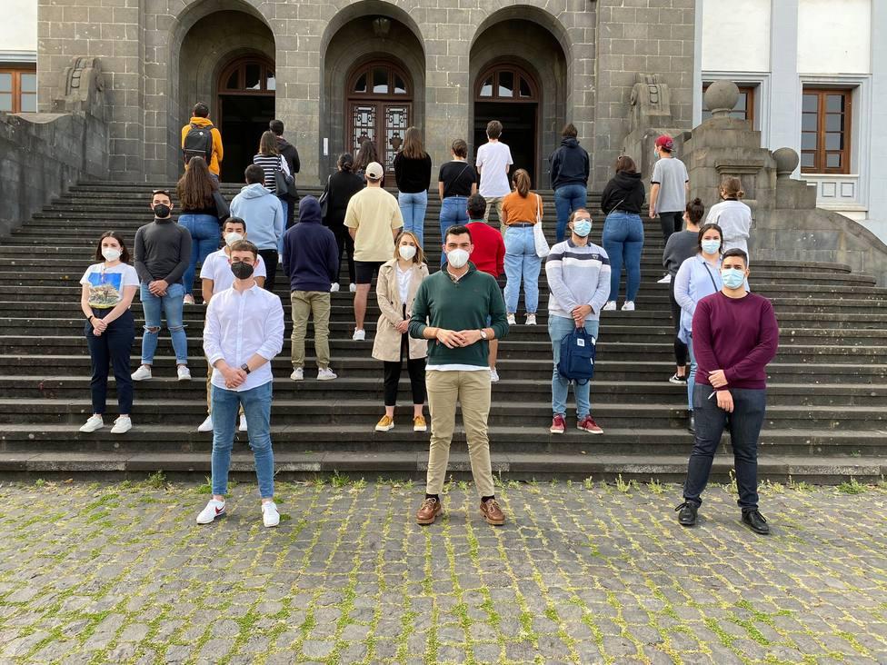 Protesta estudiantes química