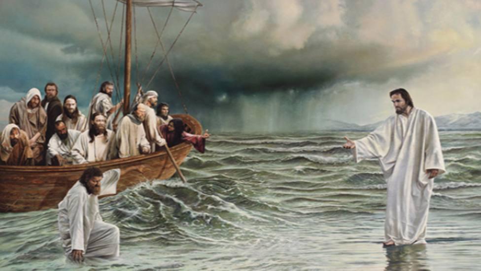 """""""Se puso en pie, increpó al viento y dijo al lago: «¡Silencio, cállate!» El viento cesó y vino una gran calma"""""""