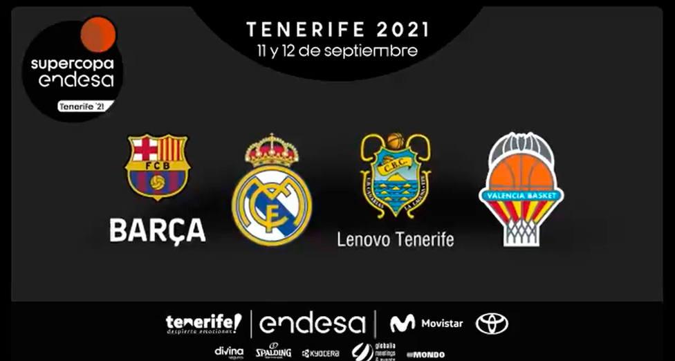 Barça, R. Madrid, Lenovo Tenerife y Valencia lucharán por la Supercopa Endesa