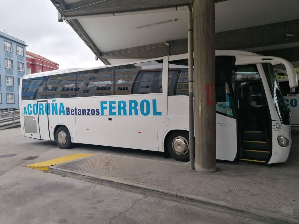 Foto de archivo de uno de lo autobuses que cubre el trayecto hacía A Coruña