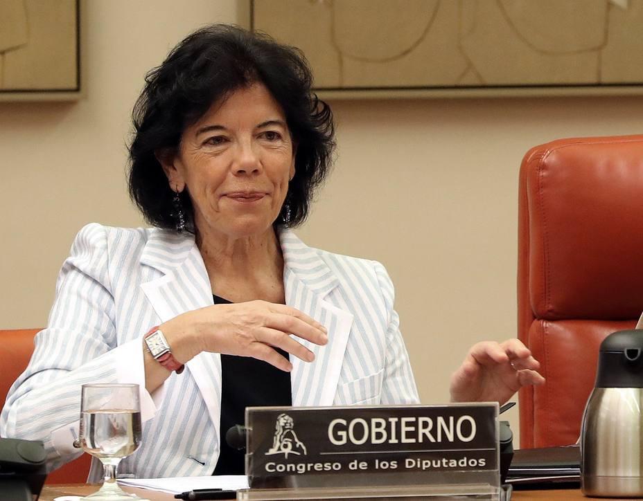 Comparecencia de Isabel Celaá en el Congreso