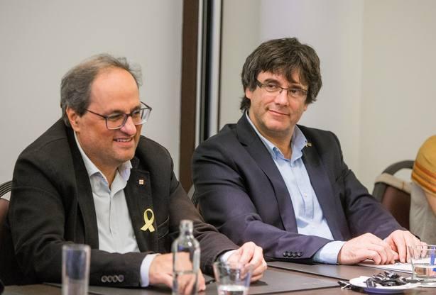 Puigdemont y Torra se reúnen en Bruselas. Archivo