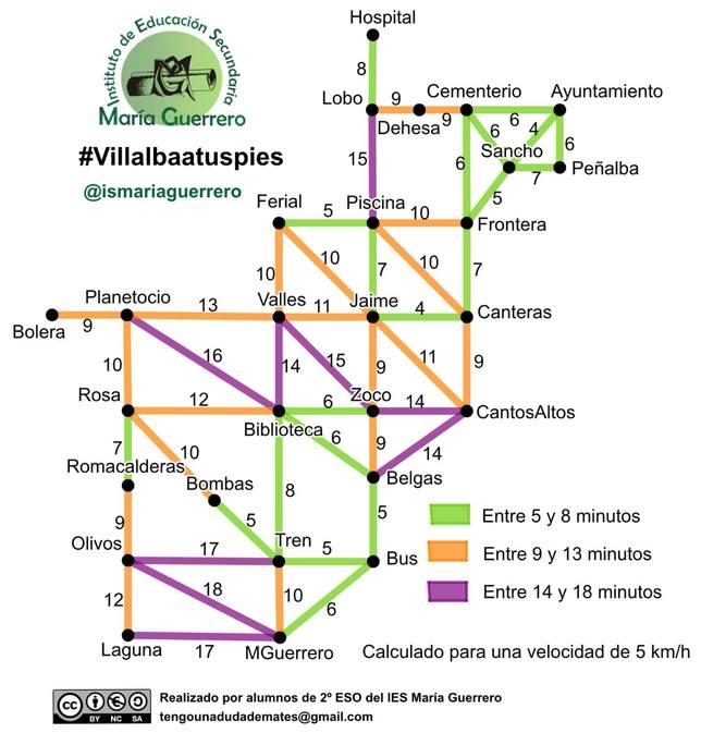 Mapa elaborado por los alumnos del IES María Guerrero
