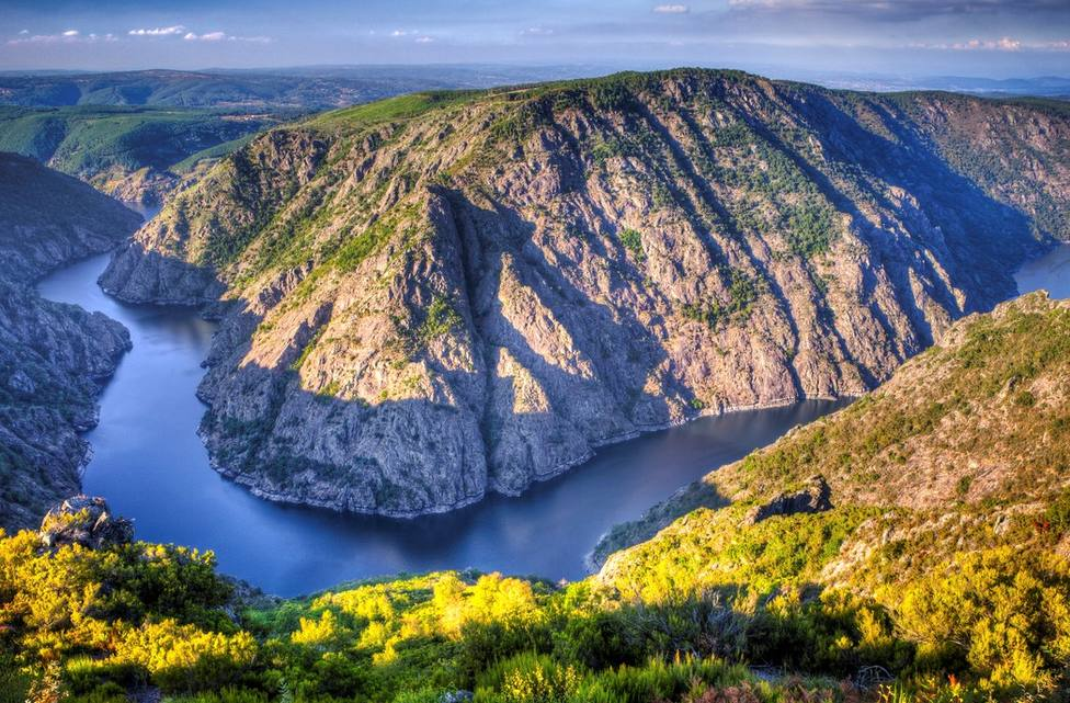 Landscape of the Ribeira Sacra (Sil River Canyons) in Ourense