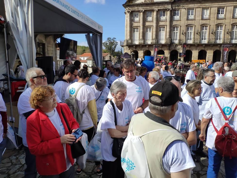 Miembros de la Asociación de Diabéticos de Ferrolterra en Santiago de Compostela