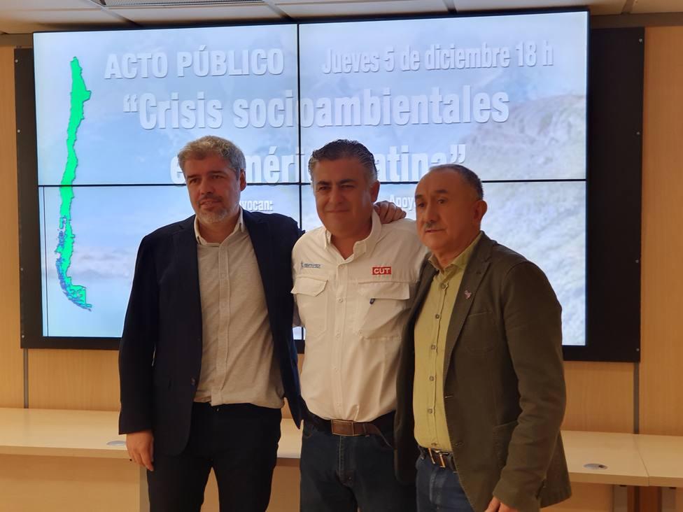 Sindicatos españoles y chileno exigen que Chile abandone la presidencia: No puede continuar ni un día más