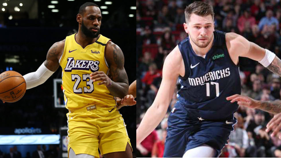 Un Doncic All Star lidera a los Mavericks; Lebron, con un triple doble, se acerca a Kobe