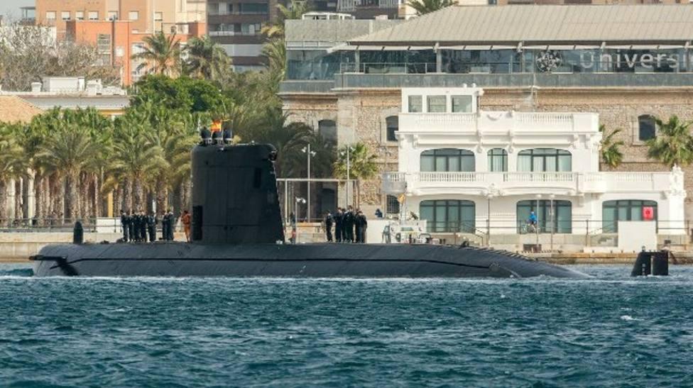 La Armada jubila al submarino Mistral con 35 años de servicio