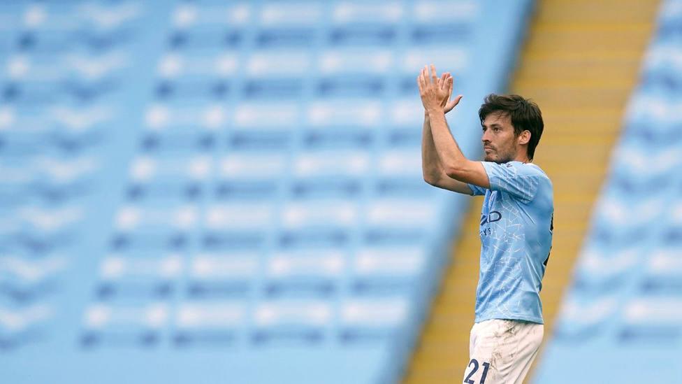 David Silva, en su último partido con el Manchester City en la Premier League (FOTO: Manchester City)