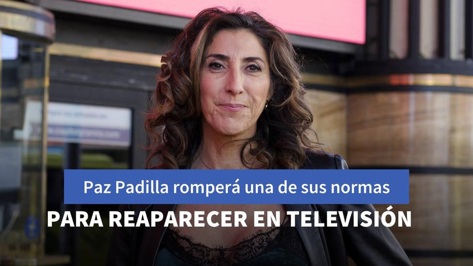 Paz Padilla romperá una de las normas que ha marcado su carrera en su reaparición televisiva
