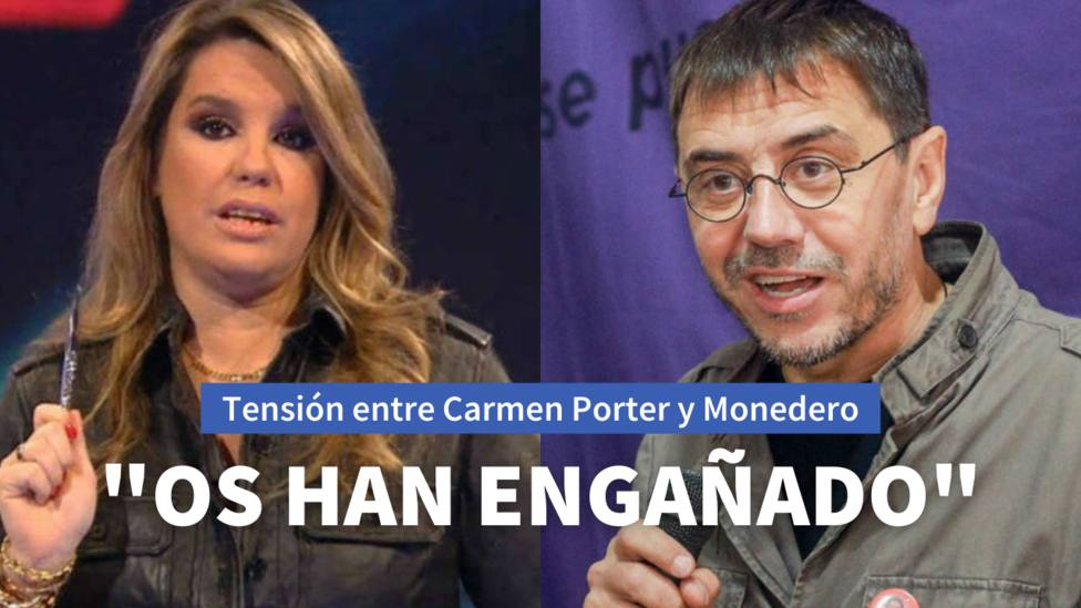 Carmen Porter y Juan Carlos Monedero
