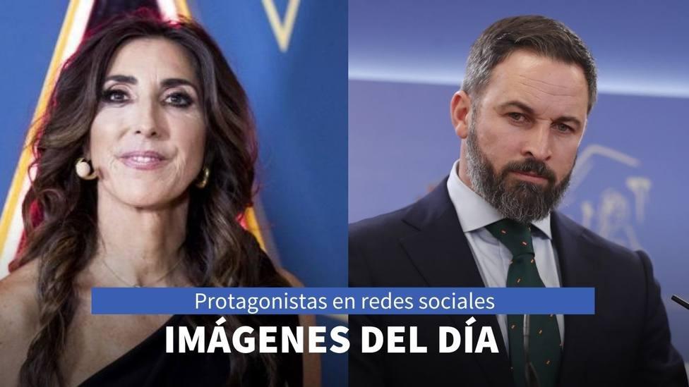 Imágenes del día: el mensaje que lanza Paz Padilla y la imagen de Santiago Abascal