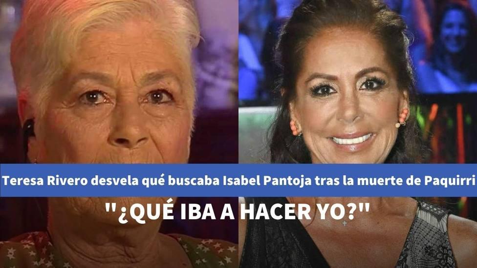 Teresa Rivera desvela en Telecinco las verdaderas intenciones de Isabel Pantoja tras la muerte de Paquirri