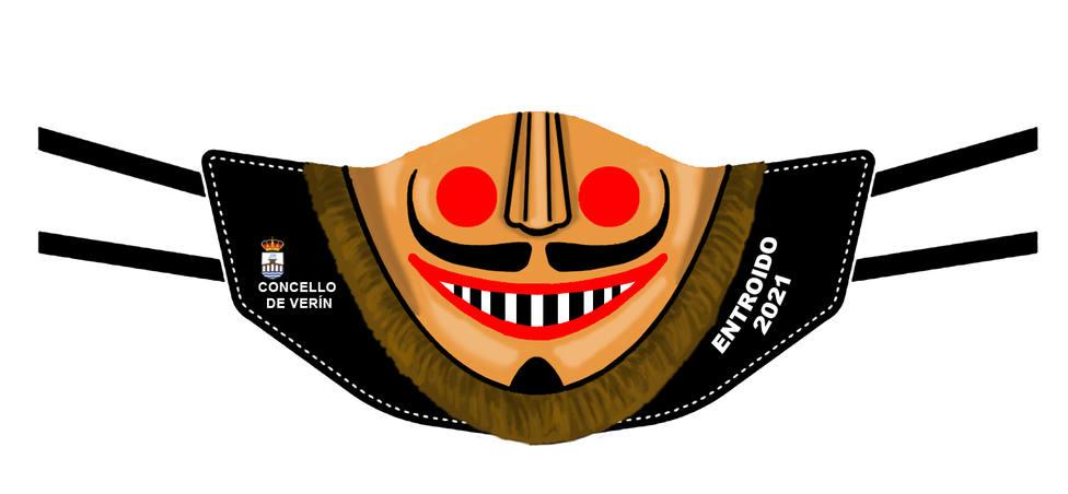 El diseño de la mascarilla que se repartirá entre los niños de Verín