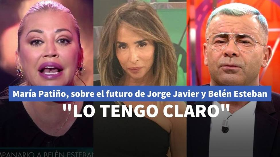 María Patiño habla alto y claro sobre el futuro entre Jorge Javier Vázquez y Belén Esteban: Estoy convencida