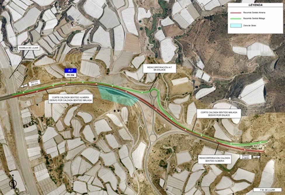 Granada.- Restablecido el tráfico en el tramo de la A-7 afectado por un deslizamiento el pasado marzo