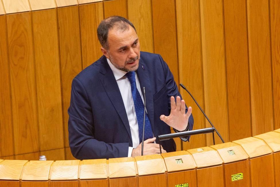 Julio García Comesaña en su comparecencia en el Parlamento de Galicia - FOTO: Xunta