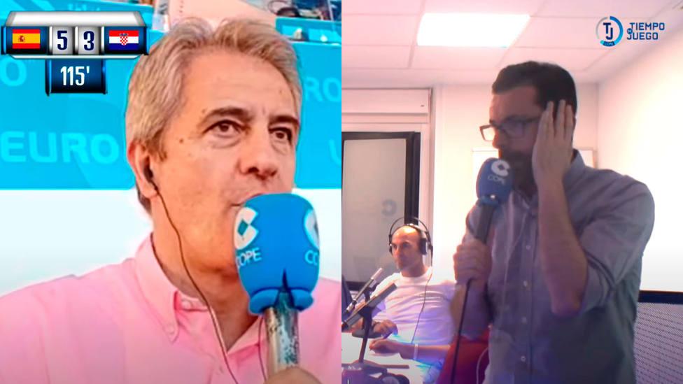 Manolo Lama y Rubén Martín narraron una gran tarde de radio