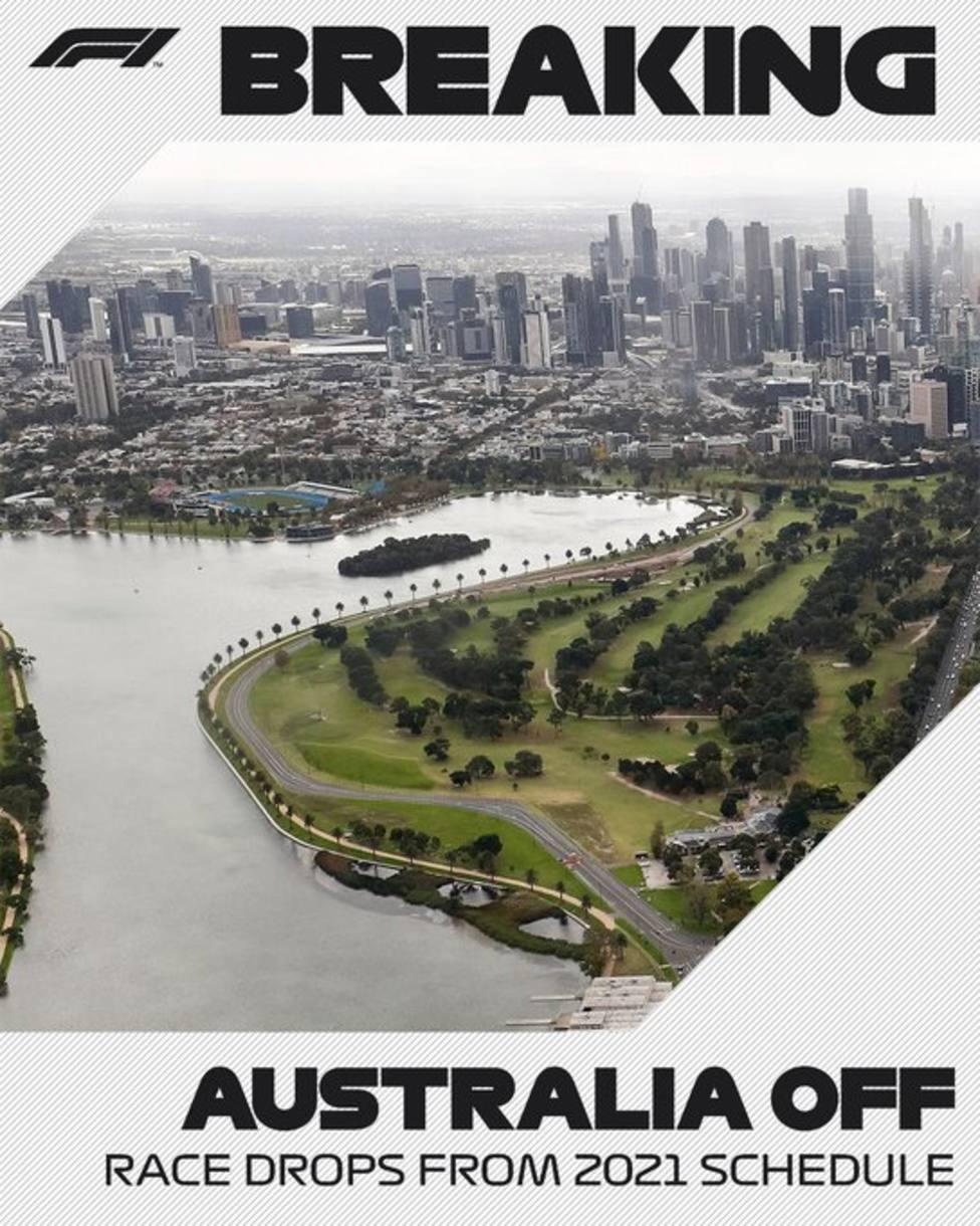 Cancelado el GP de Australia de F1