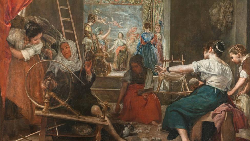 Las hilanderas o la fábula de Aracne. Fuente Museo del Prado