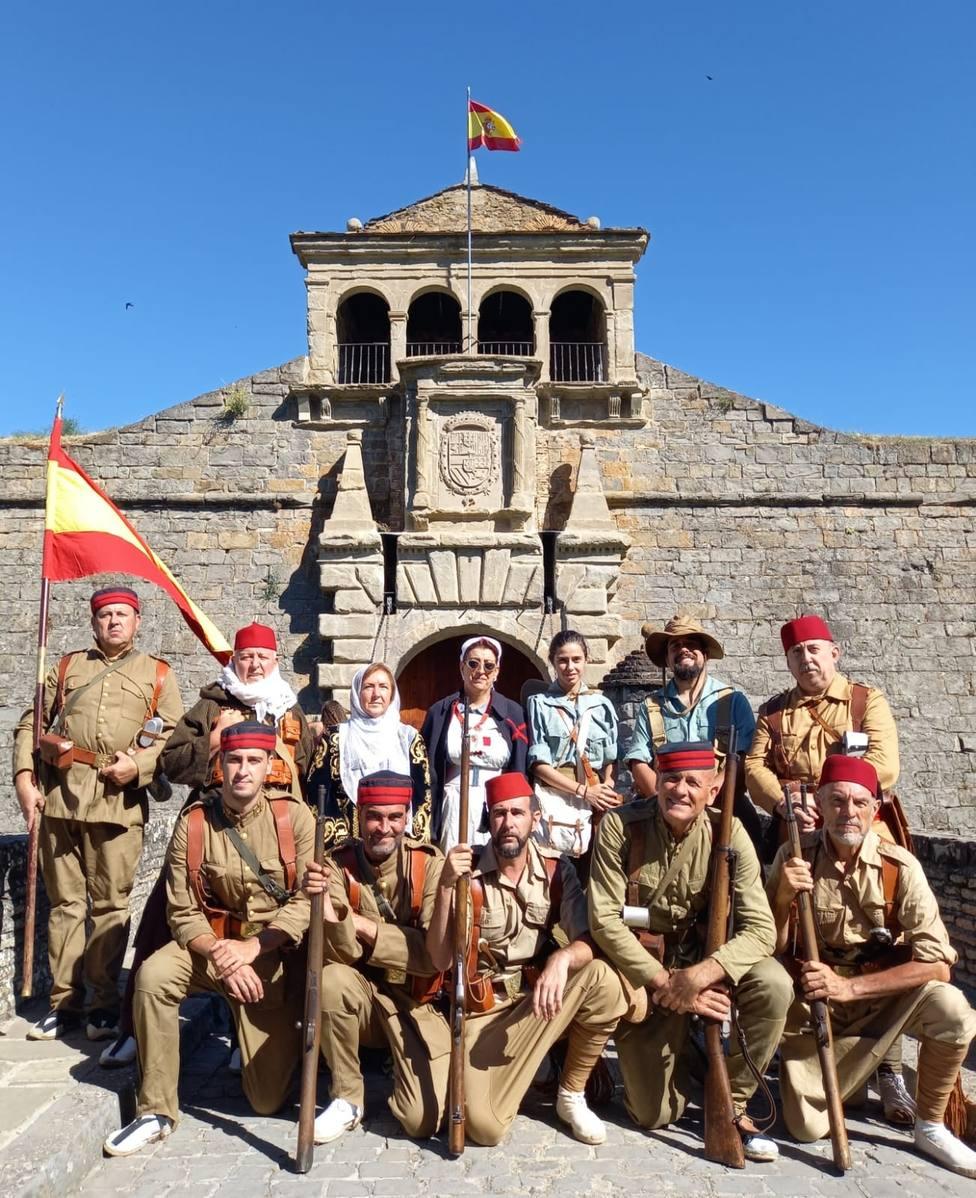 Recreación histórica de la Legión Española en Jaca