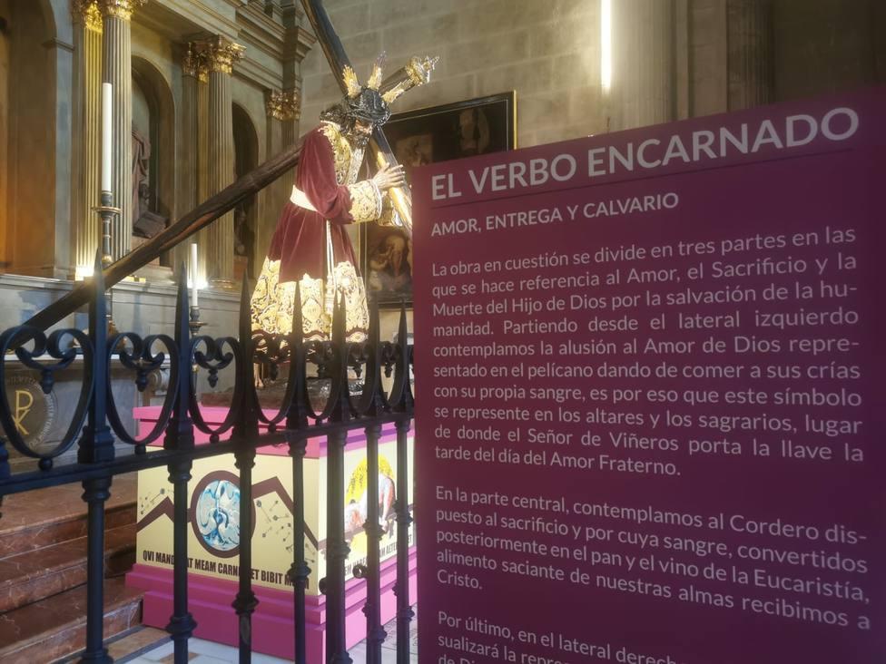 Imagen de la exposición y veneración El Verbo Encarnado en la catedral de Málaga.