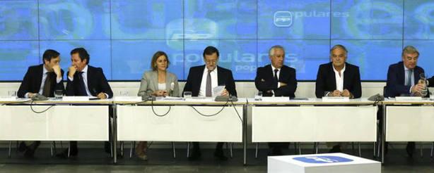 El presidente del Gobierno, Mariano Rajoy, en el Comité Ejecutivo Nacional del PP