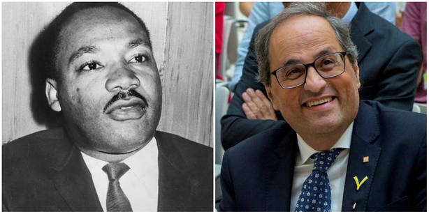 El Instituto Luther King de EEUU pide a Torra que deje de usar la figura del activista