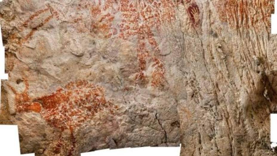 Las pinturas rupestres más antiguas del mundo, en Indonesia