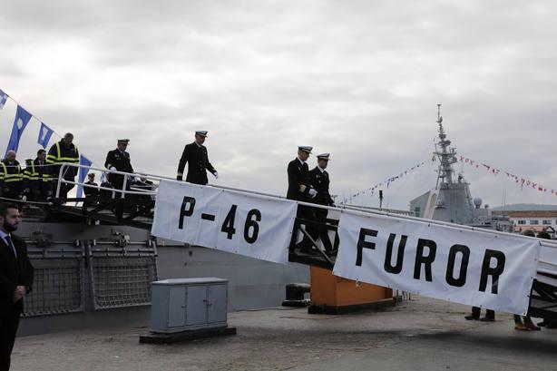 Acto de entrega del buque Furor en el Arsenal Militar de Ferrol
