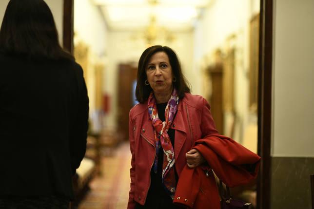 La ministra de Defensa, Margarita Robles, en el Congreso de los Diputados